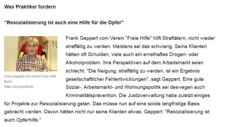Berliner Morgenpost interviewt unseren Bereichsleiter der Beratungsstelle Frank Geppert